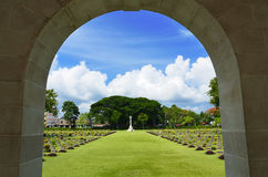 World War 2 Memorial Cemetery Stock Photography