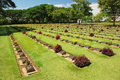 World War 2 Memorial Cemetery Royalty Free Stock Photography