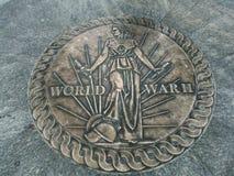 World war 2 seal. From World War Two Memorial in Washington DC, USA Stock Photos