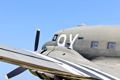 World war 2 transport airplane royalty free stock image