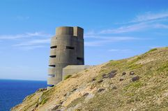 World War 2 watchtower on Jersey Royalty Free Stock Images