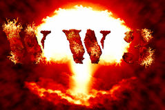 World war 3 nuclear background Stock Photo