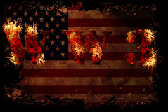 World war 3 nuclear background. A sensitive world issue, useful for various icon, banner, background, global economy conceptual design Royalty Free Stock Images