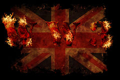 World war 3 nuclear background. A sensitive world issue, useful for various icon, banner, background, global economy conceptual design Royalty Free Illustration