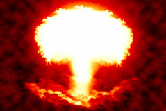 World war 3 nuclear background, a sensitive world issue. Useful for various icon, banner, background, global economy conceptual design Royalty Free Stock Photography