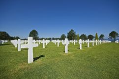 World War 2 American Cemetery Royalty Free Stock Image