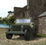 World War 2 Army Jeep Stock Photo