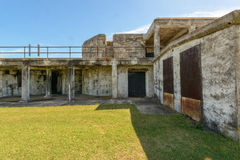World War 2 Artillery Battery. Located on Ft. Monroe in Hampton Virginia. Ft. Monroe is located at the mouth of the Chesapeake Bay and guards Hampton Roads Royalty Free Stock Images