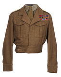 World War 2 cavalry officer's uniform WW11 Royalty Free Stock Photography