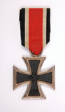 A WWII nazi German Iron Cross. A WWII German Iron Cross awarded to German soldiers for acts of bravery during the second world war royalty free stock images