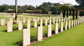 World war cemetery, memorial to soldiers Royalty Free Stock Image