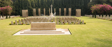 World war cemetery, memorial to soldiers Stock Photography