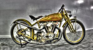 World War 2 era Harley Davidson. Vintage World War 2 Harley Davidson motorcycle on display stock image