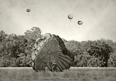 World War 2 era paratroopers Royalty Free Stock Image