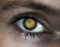 World war eye vision prophecy Royalty Free Stock Photo