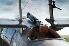 World war 1 fighter. Forward  cockpit view Stock Photo
