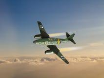 World War 2 German Jet Fighter illustration Stock Photography