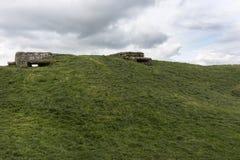 World War I bunkers near Diksmuide, Flanders, Belgium. Royalty Free Stock Image