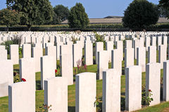 World war I cemetery, Flanders. British World War I cemetery in Poelkapelle near Ypres, where over 6000 unknow fallen commonwealth soldiers are burried Stock Photography