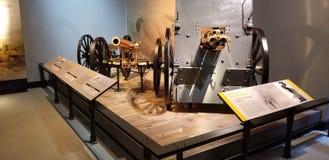 World War I Marine Corps Cannon and Machine Gun stock photos