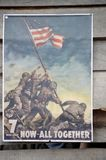 World War I poster in the United States. Of America royalty free stock photos