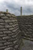 World War I trench in Flanders, near Diksmuide. Royalty Free Stock Image