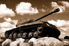 World War II. The Great Patriotic war. The tank which has remained after the war royalty free stock photography