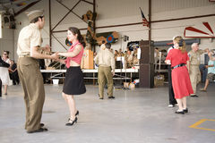 World War II actors dance Stock Images
