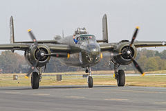 World War II B-25 Mitchell Bomber Aircraft Royalty Free Stock Images