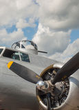 World War II B17 Bomber's Propellers and Guns Royalty Free Stock Photos