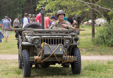 World War II Battle Reenactment Stock Photography