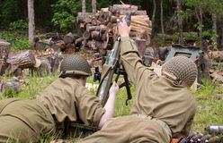 World War II Battle Reenactment Royalty Free Stock Photo