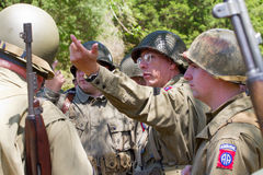 World War II Battle Reenactment Stock Images