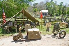World War II Battle Reenactment Royalty Free Stock Image