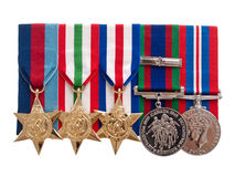 World War II Canadian Medals Stock Photo