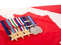 World War II Canadian medals Royalty Free Stock Image