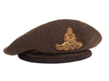 World War II Canadian soldier beret 3/4 view Stock Photos