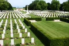 World War II Cemetary. A canadian cemetary in Beny-Sur-Mer, France royalty free stock photo