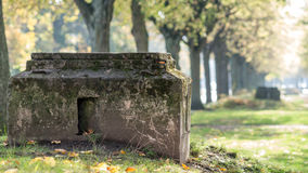 World War II civil defence shelter Stock Image