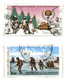 World War II commemoratives Royalty Free Stock Images