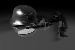 World war II concept (black and white) Stock Photography