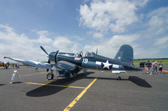 World War II Corsair. A WWII era Corsair sitting on the tarmac during an historical airshow Royalty Free Stock Images