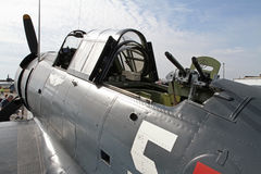 World War II Dauntless Dive-Bomber on Display Stock Photography