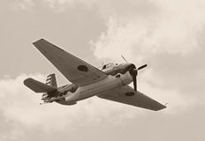 World War II era airplane Royalty Free Stock Photography