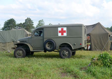 World War II era ambulance Stock Images