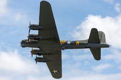 World War II era Boeing B-17 Flying Fortress bomber aircraft `Sally B` G-BEDF. Stock Image