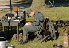 World War II era camp life Stock Image