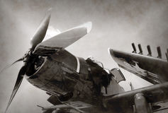 World War II era fighter plane Stock Photography