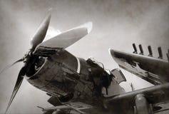 World War II era fighter plane. World War II era Navy fighter plane with folded wings Stock Photography