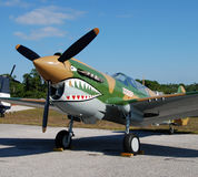 World War II era fightrer plane Stock Photo